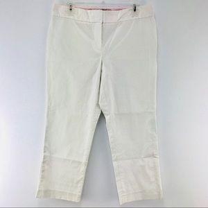 Vineyard Vines Cropped Pants Size 10 White